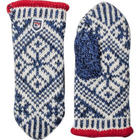 Hestra Nordic Wool Muffole, blu/bianco